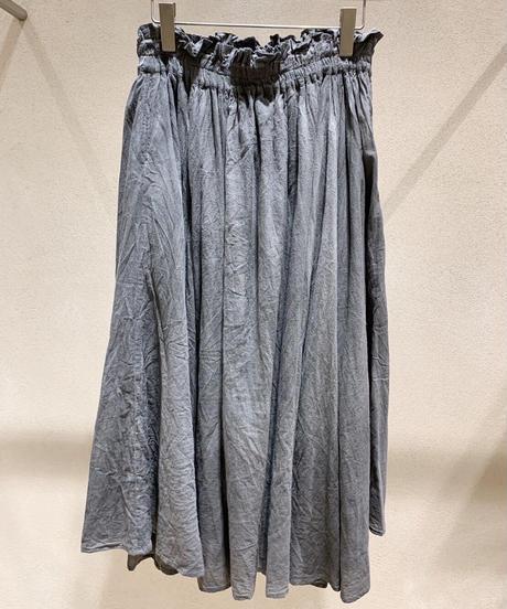 墨染シャーリングスカート