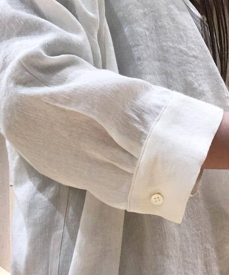 白麻レーヨンドロップシャツ