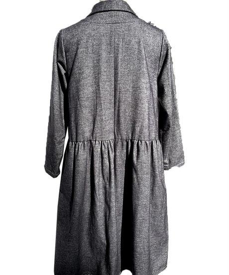 綿起毛ショールカラーコート