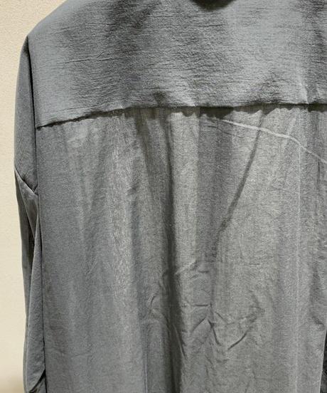 黒ロングドロップシャツ