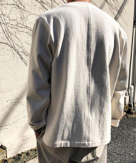 結-yui- YS21-T01  LOOSE DRILL  V-NECK CARDIGAN / IVORY