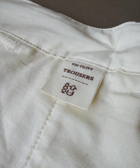 結-yui- YS21-BT01  YUI-TILITY TROUSERS BIG HERRINGBONE / WHITE