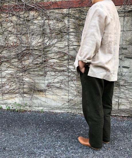 結-yui- YS21-T02  FLUX LINEN  V-NECK CARDIGAN / ECRU