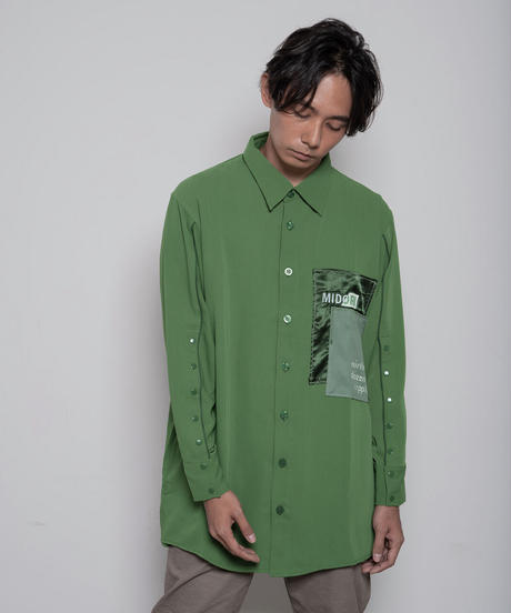 【限定600着】Overlapping shirt GRN