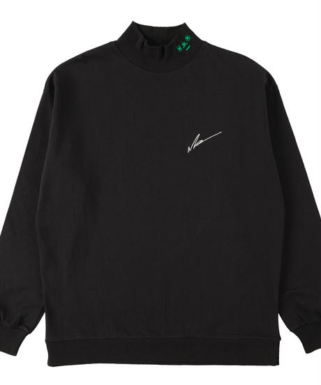 LOGO mock-neck BLK