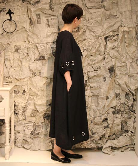 リネンマル袖付きワンピース(82376)
