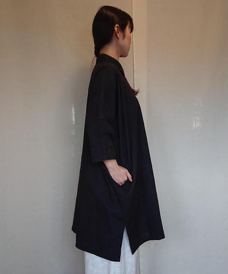 パッチワーク風レース衿付きブラウス (82298)