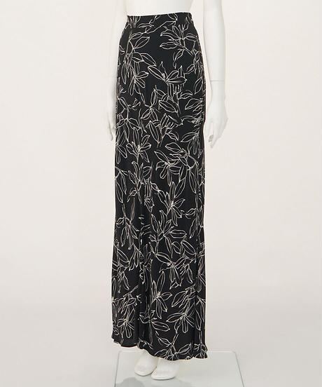 ハンドドローフラワーナロースカート