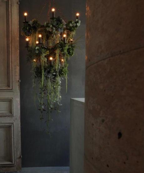 シャンデリア(アイアン製)15灯 ボタニカル