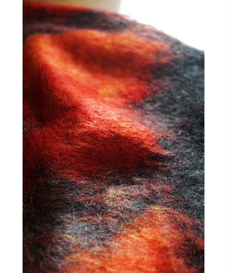 Mohair  knit 【Red Mix】