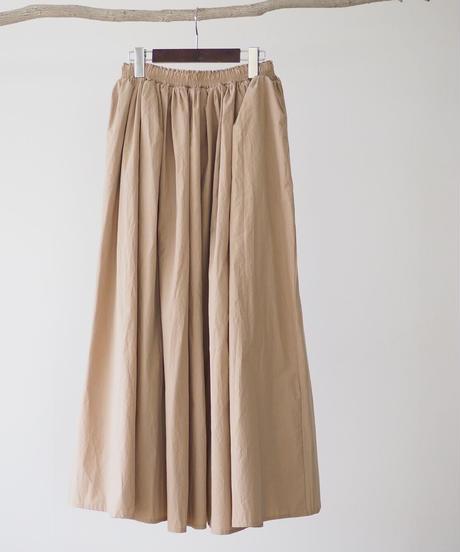 コットンギャザー マキシスカート