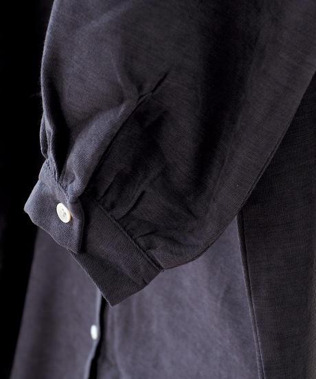 スタンドカラー ロングシャツ