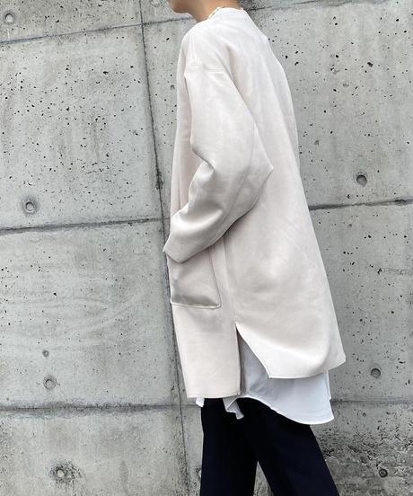 ノーカラー ロングジャケット