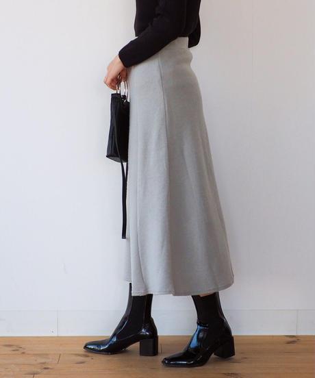 くすみカラー 起毛フレアースカート