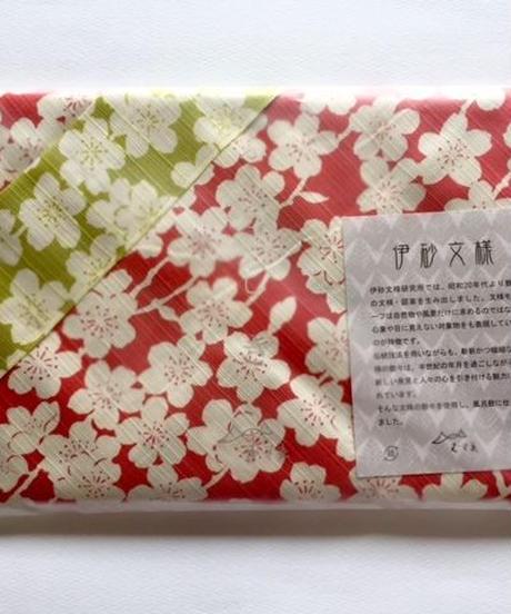ふろしき 伊砂文様 両面 しだれ桜 (ピンク×グリーン)
