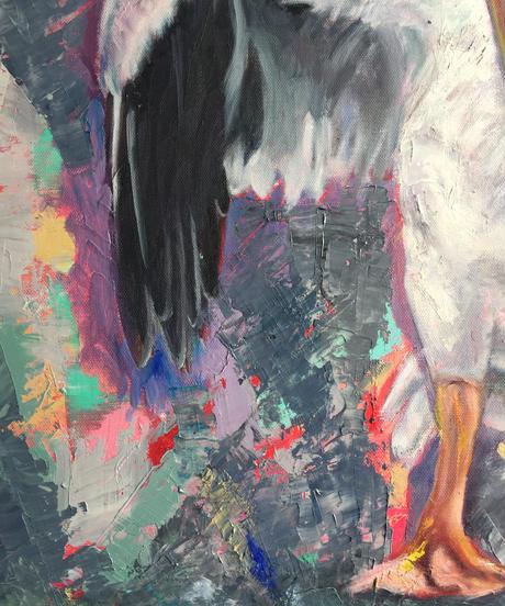 油彩画 F15号 『touch』