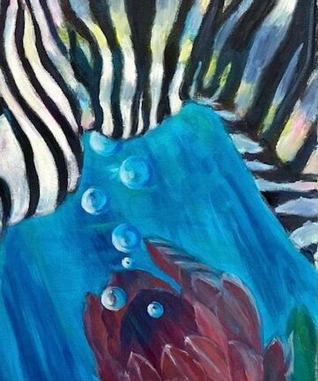 油彩画 『縞馬』