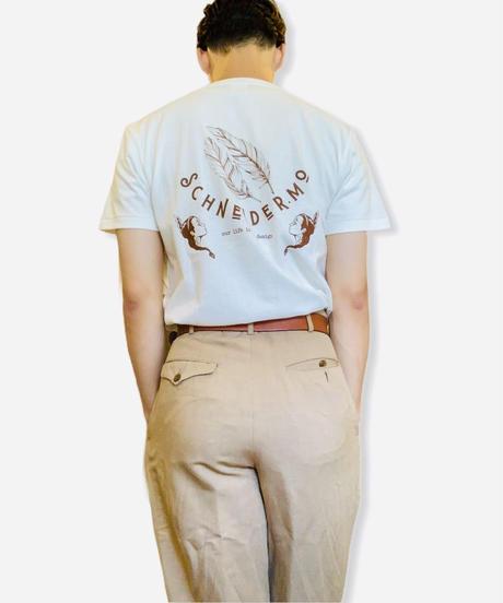NATIVE HENRY NECK T-SHIRTS / WHITE