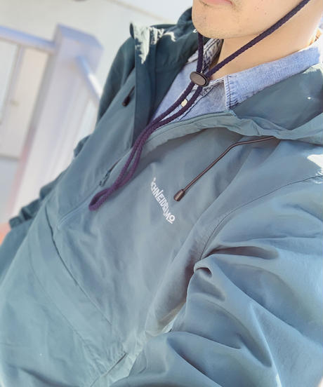 Anorak Parker / Green × White