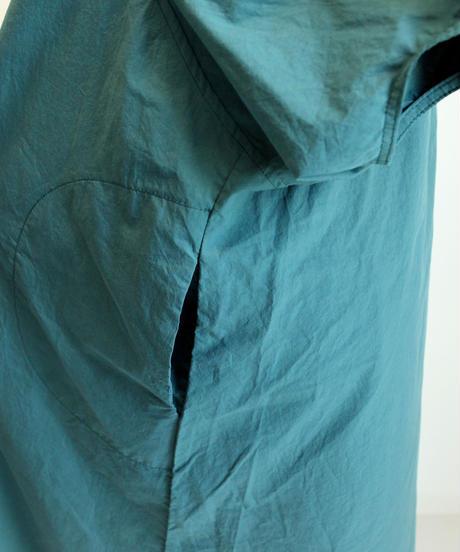 cotton puff sleeve one-piece(GREEN/PURPLE)