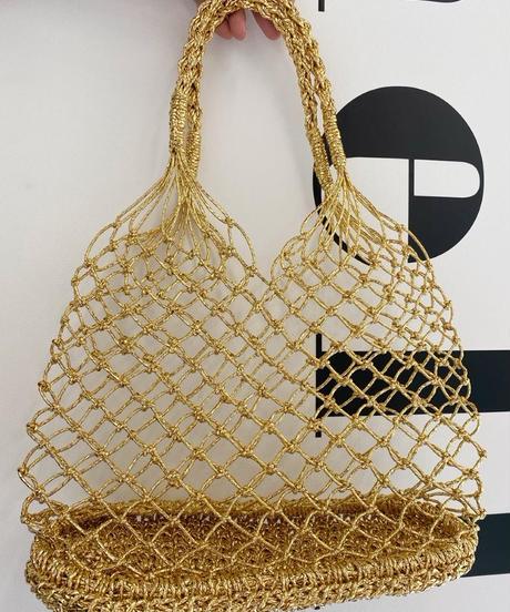 メッシュ編みハンドバッグ(SILVER/GOLD)