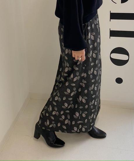 リーフ柄/Iラインロングスカート【4980円⇒3980円】