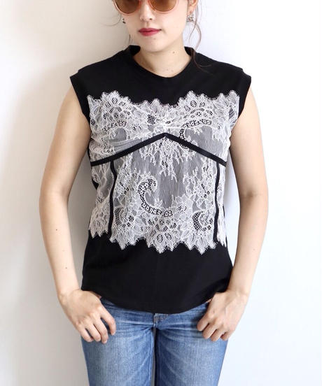 lace tee shirt(2color)