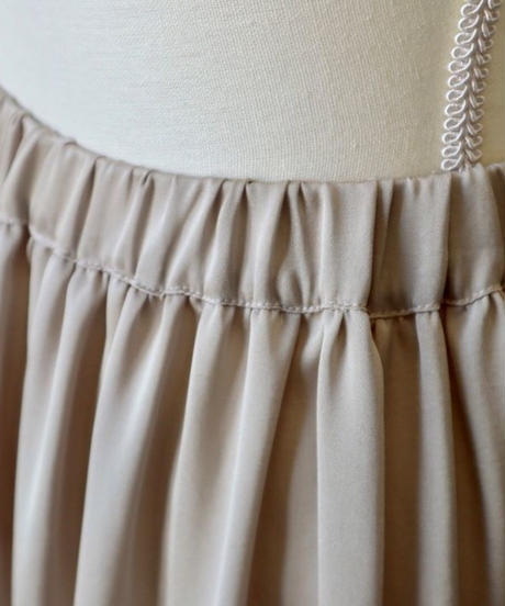 satin long skirt
