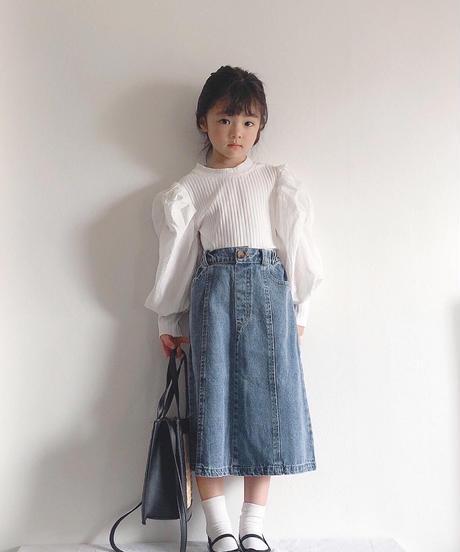 ミディ丈デニムスカート