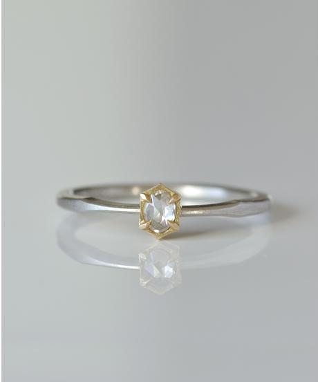 One of kind / Rosecut Diamond Ring <PT950/K18YG> -RR084C