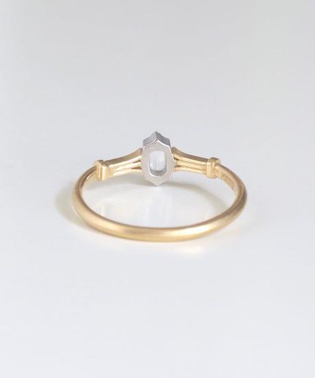 One of kind / Rosecut Diamond Ring <K18YG/PT950> -RR105C