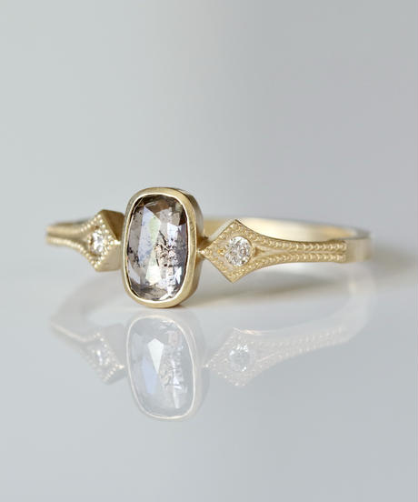 One of a kind / Diamond Ring <K18YG> - R 570C