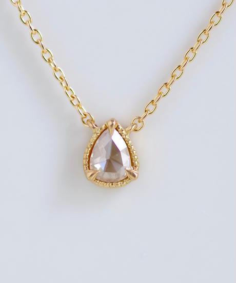 One of a kind / Rosecut Diamond Necklace <K18YG> - NR103C