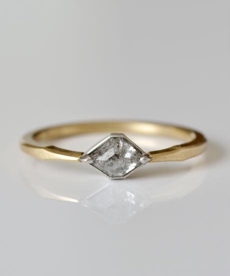 One of a kind / Diamond Ring <K18YG,PT950> - R 443C