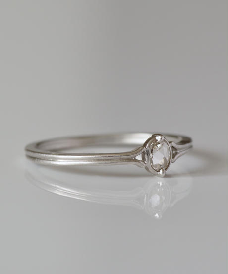 One of a kind / Rosecut diamond Ring <PT950> - RR102C