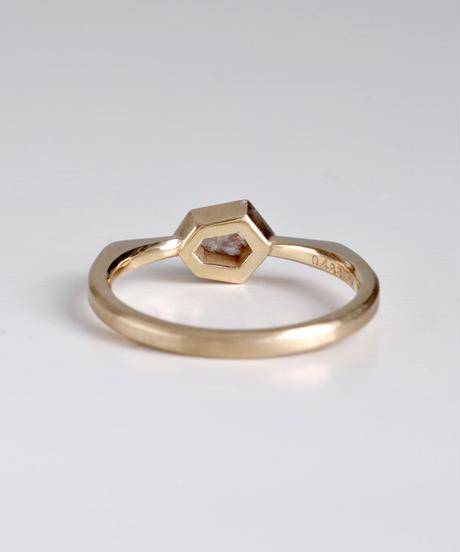 One of a kind / Diamond Ring <K18YG> - R488C