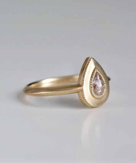 One of a kind / Diamond Ring <K18YG> - R328C