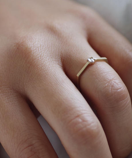 One of a kind / Diamond Ring <K18YG> - RRsov085C