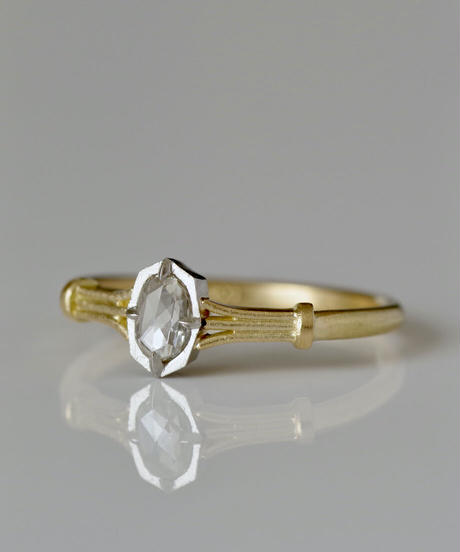 One of a kind / Diamond Ring <K18YG, PT950> - RR162C