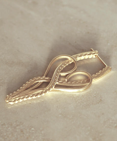 Yarn stud pierce - Ⅱ <K18YG> - single