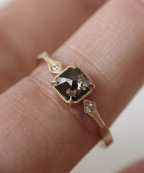 One of kind / Diamond Ring <K18YG> -R707C