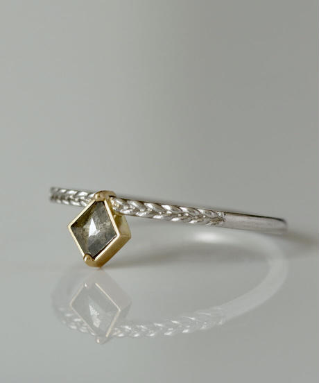 One of a kind / Diamond Ring <PT950, K18YG> - R228C