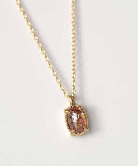 One of a kind / Natural Diamond Necklace <K18YG> - N365C
