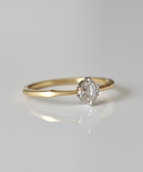 One of a kind / Rosecut diamond Ring <K18YG,PT950> - RR108C