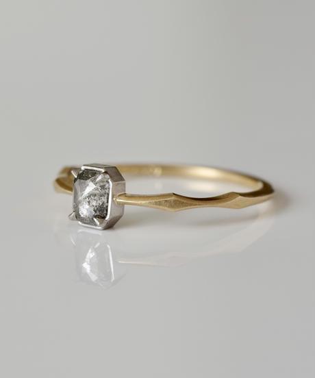 One of a kind / Diamond Ring <K18YG,PT950> - R336C