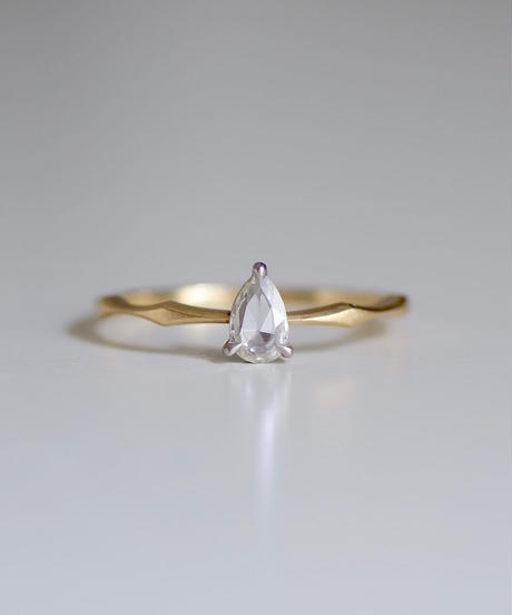 One of kind / Rosecut Diamond Ring <K18YG/PT950> -RR152C
