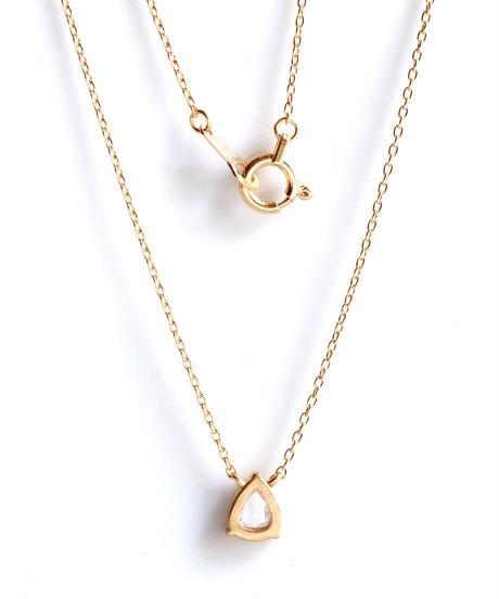 One of a kind / Rosecut Diamond Necklace <K18YG> - NR168C