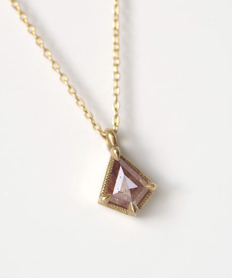 One of a kind / Natural Diamond Necklace <K18YG> - N370C