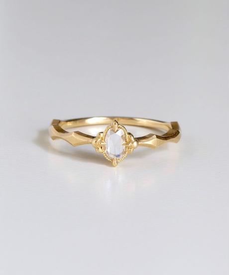One of kind / Rosecut Diamond Ring <K18YG> -RR144C