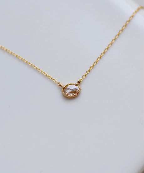 One of a kind / Rosecut Diamond Necklace <K18YG> - NR065C